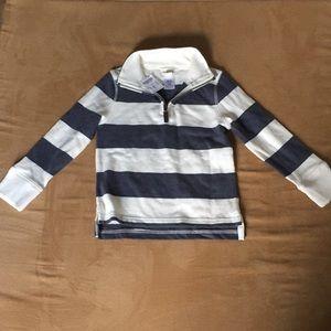 Crewcuts zip up long sleeve striped shirt